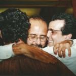 Com meus irmãos Pedro Paulo Azevedo e Marcelo Taranto