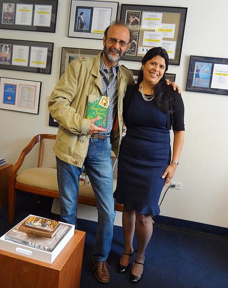 Com Johanna Castillo, vice-presidente e editora executiva da Atria, Simon&Schuster, em Nova York.